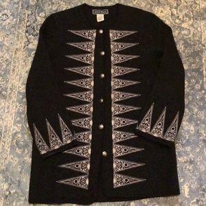 Boho Style Embroidered Wool Jacket❤️